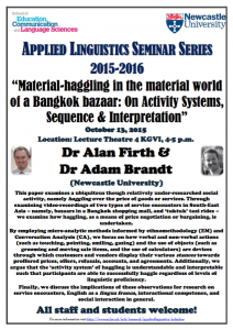 ALC seminar series - Firth and Brandt talk (photo)