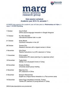 MARG schedule 2015-16 sem 1 photo