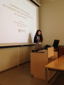 Yoonjoo giving her paper