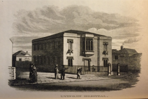 Newcastle Lying-in Hospital, 1825 From Tom Faulkner and Andrew Greg, John Dobson, Newcastle architect 1787-1865 (Tyne and Wear Museums Service, 1987)