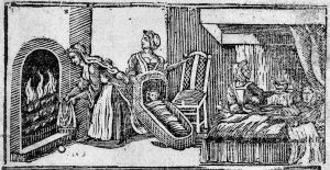 Jane Sharp, The Midwife Book, 1671, detail of frontispiece