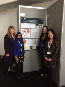 The RAs (Jess, Sheima, Carla and Therese) and our poster