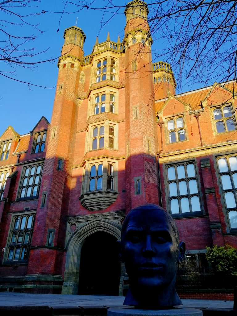 The red bricks of Newcastle University's Armstrong building looking glorious in the sun