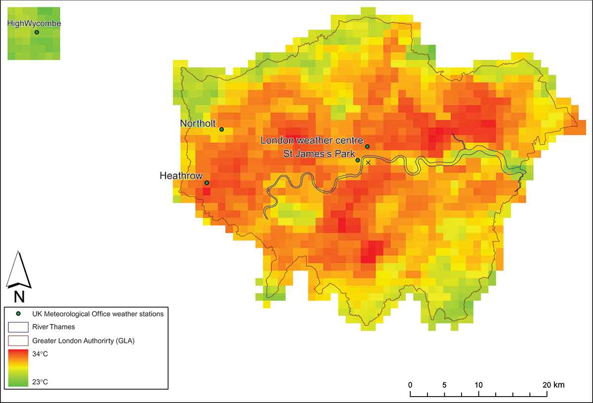 urban heat island london case study