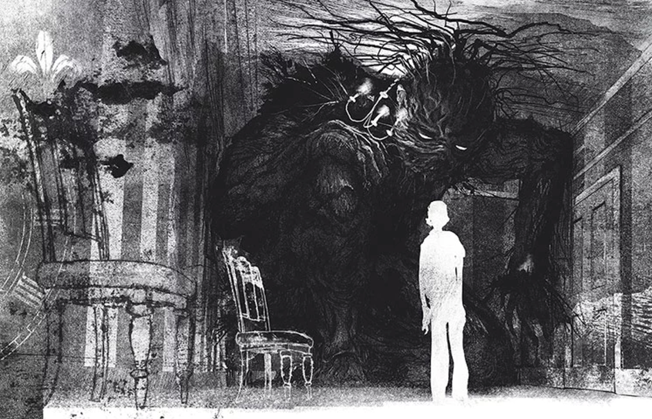 One of the illustrations from 'A Monster Calls'.