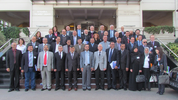 Andy Pike (2nd row, far right) with delegates at the Istanbul Chamber of Commerce