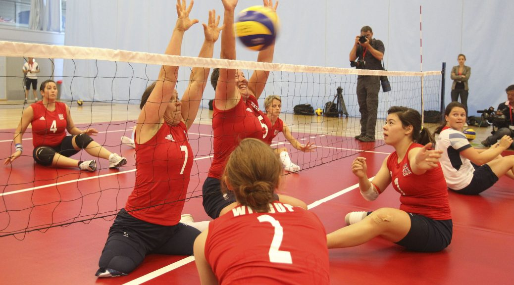 Ladies GB Paralympics sitting volleyball training session