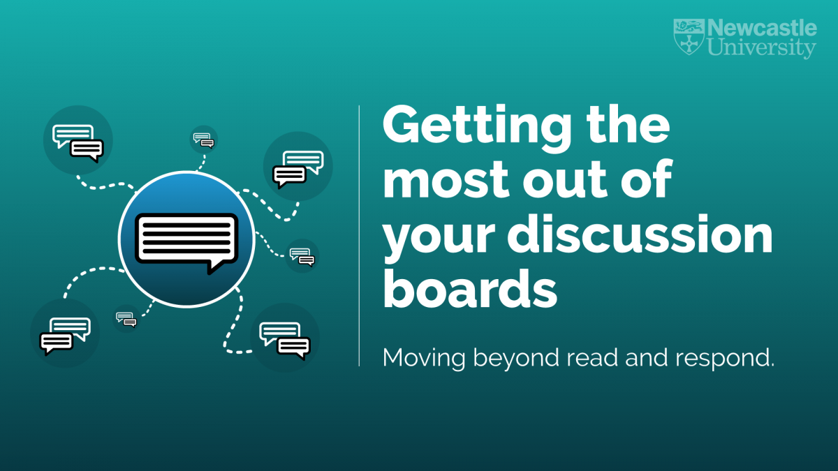 Webinar – Getting the Most out of Discussion Boards