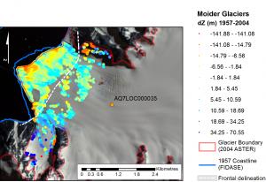 Moider Glacier Change 1957-2004