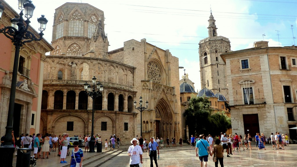 Valencia Cathedral at Plaza de la Virgen (city centre)