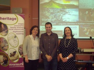 (L-R) Johanne Devlin-Trew, Philip McDermott and Karen Corrigan