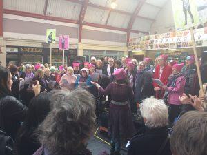 Community Choir performance as Grainger Market