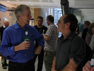 Jeff Errington and John Helmann in post-symposium discussions