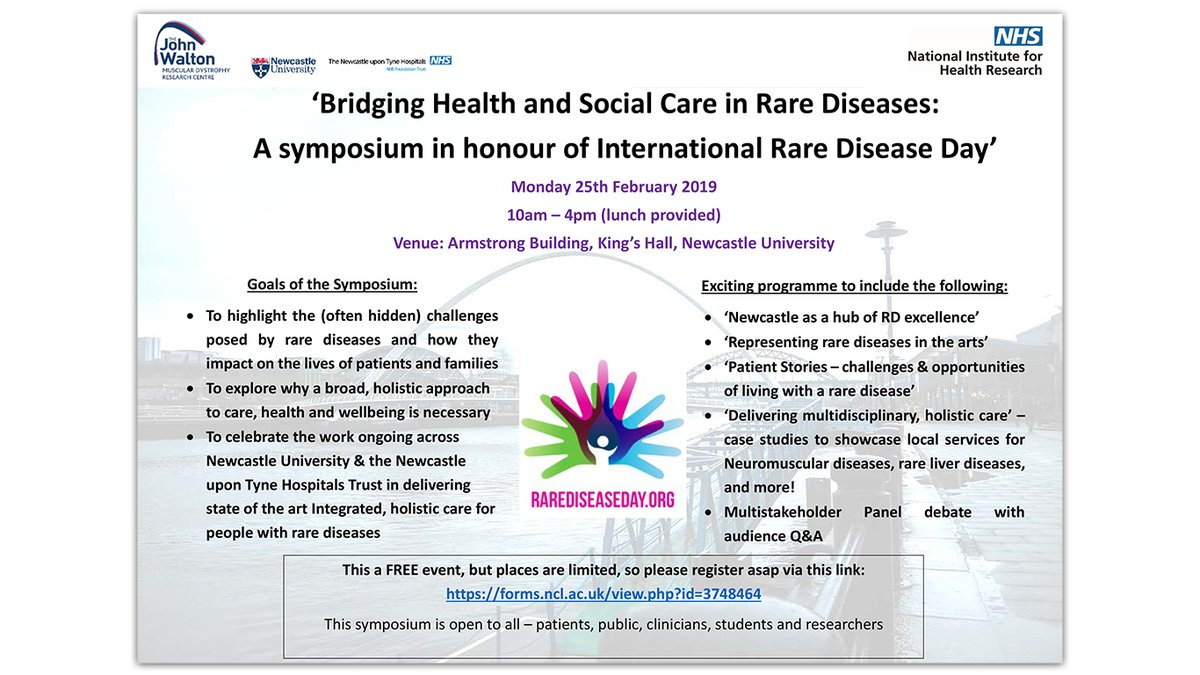 Places still available for the Rare Disease Symposium on the