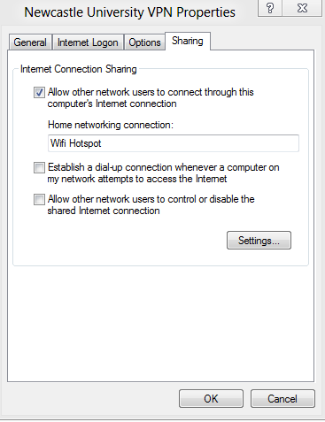Share an Internet connection and turn a Windows 7 or 8 PC in to a