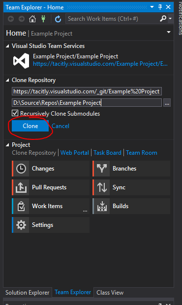 Setting Up A Visual Studio Team Services Git Repository