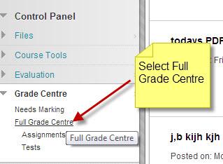 full grade centre