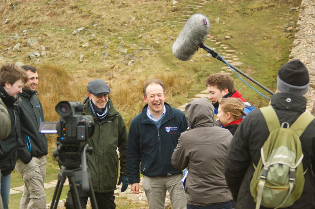 On location at The Wall.