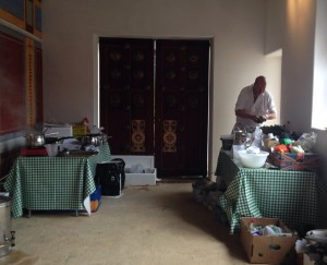 John's makeshift kitchen at next to the Summer Dining Room in the Commanding Officer's House at Arbeia