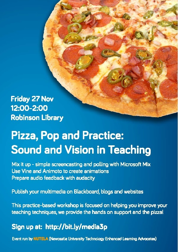 Pizza, Po and Practice Sound and Vision Poster