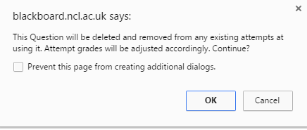 deleting question warning