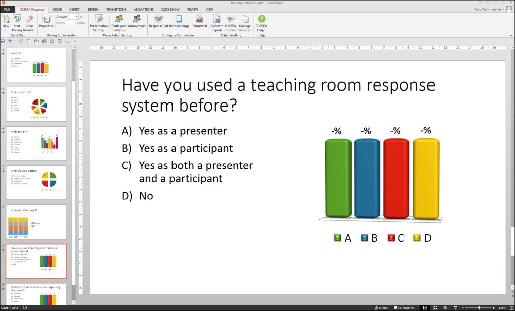 response system picture