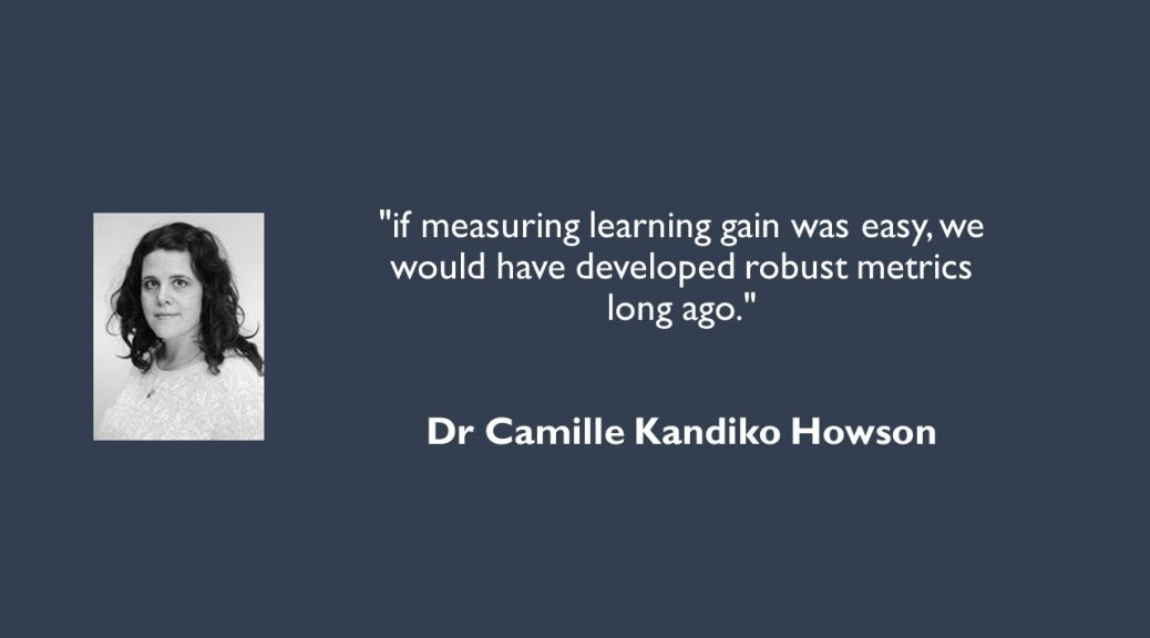 Picture and quote from Dr Camille Kandiko Howson