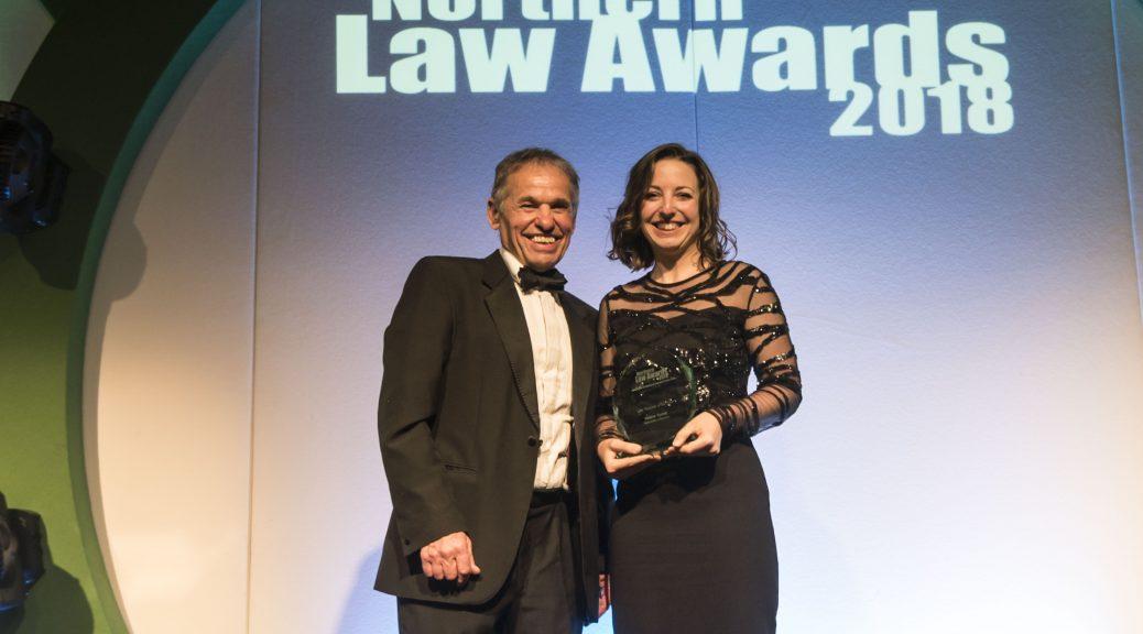 Dr Helene Tyrrell receiving her award