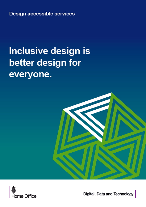 Home Office poster on inclusive design.