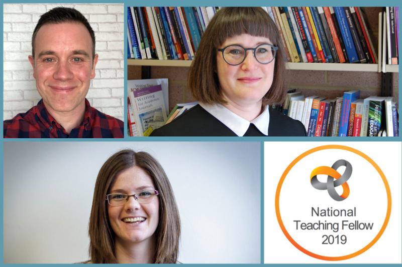 Our three national teaching fellowship award winners in 2019