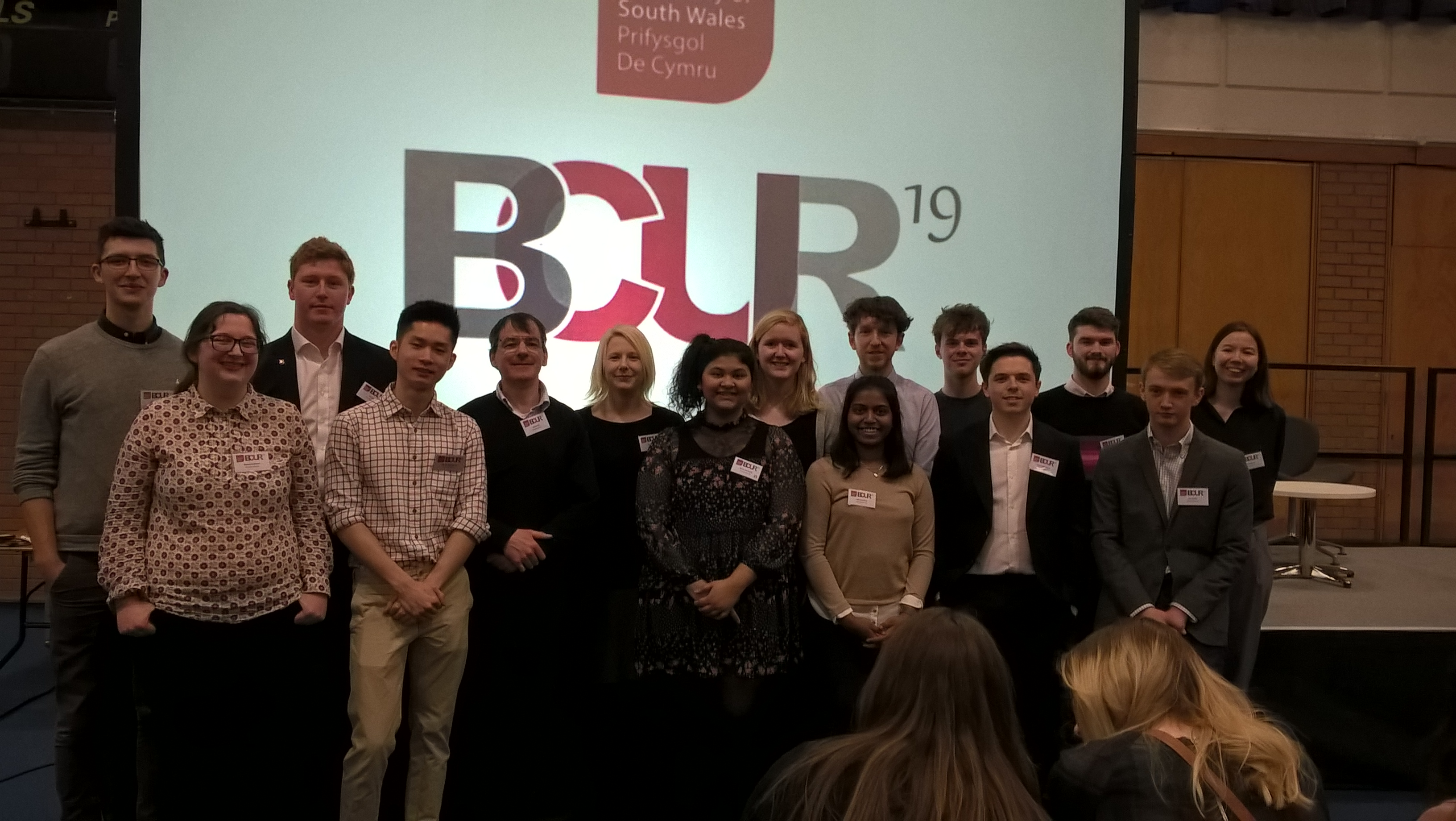 Students attending this year's BCUR conference