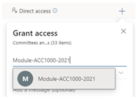 Granting access to a module in SharePoint