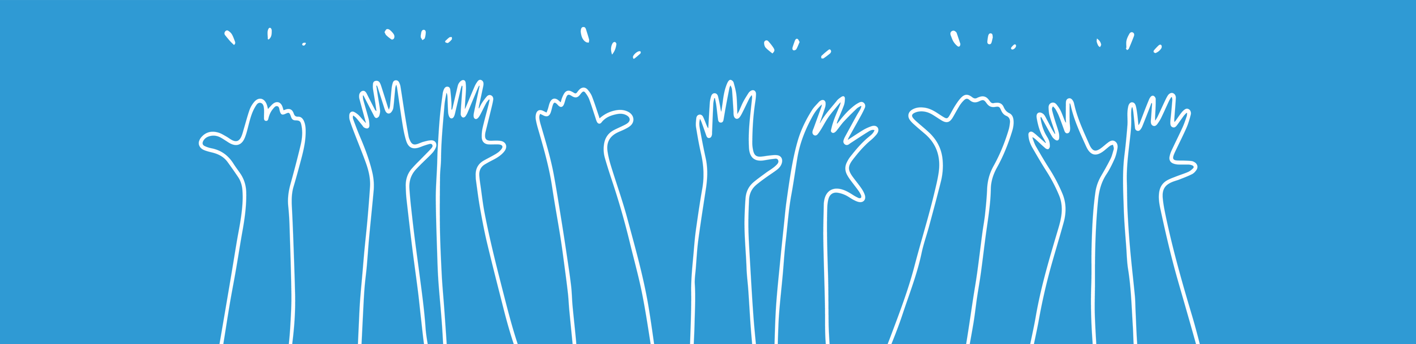 Conference logo hands in the air
