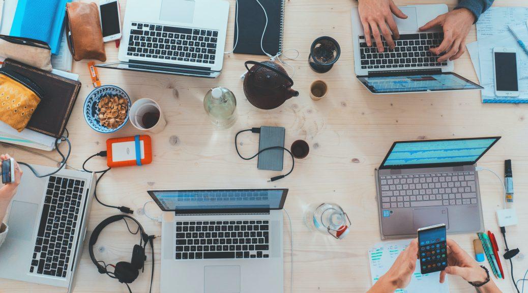 Number of laptops together