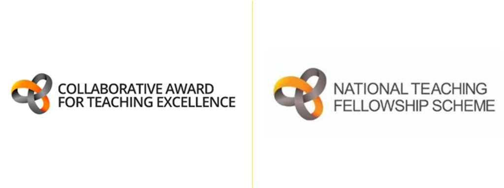 Collaborative Award for Teaching Excellence and National Teaching Fellowship logos