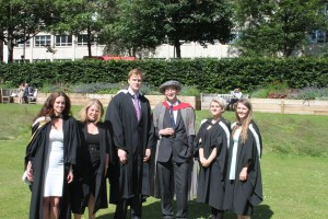 Lufton excavators graduate in 2014 © Newcastle University