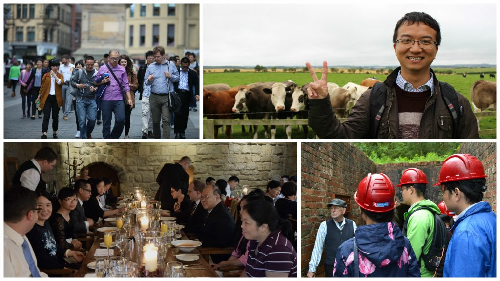 Xiamen Cultural Excursions - Clockwise from top left, Newcastle City Centre, Northumbrian Farm, Blackfriar's, Beamish Open Air Museum