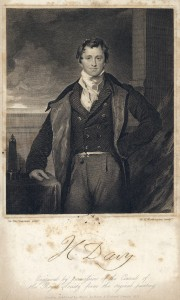 Engraving of Sir Humphry Davy from The life of Sir Humphry Davy, 1831 (19th Century Collection, 19th C. Coll. 530.9 PAR)