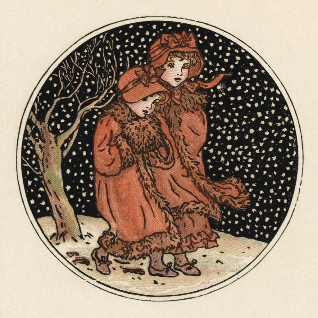 December - Almanack from 1890 by Kate Greenaway