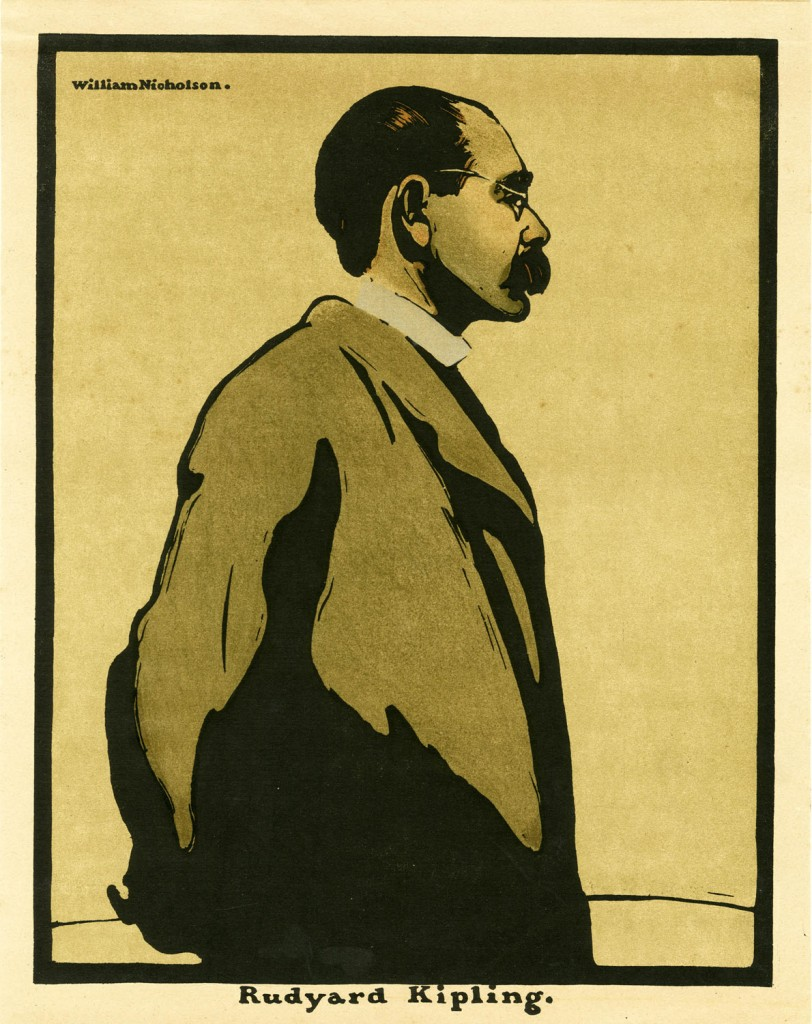 Lithograph portrait of Rudyard Kipling by William Nicholson, 1899 (Pollard Collection)