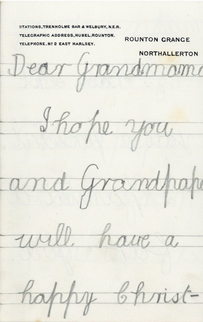 Trevelyan Letter page 1