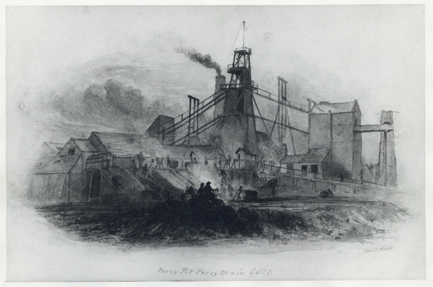 Percy Pit, Percy Main Colliery, by Thomas Hair. Date unknown.