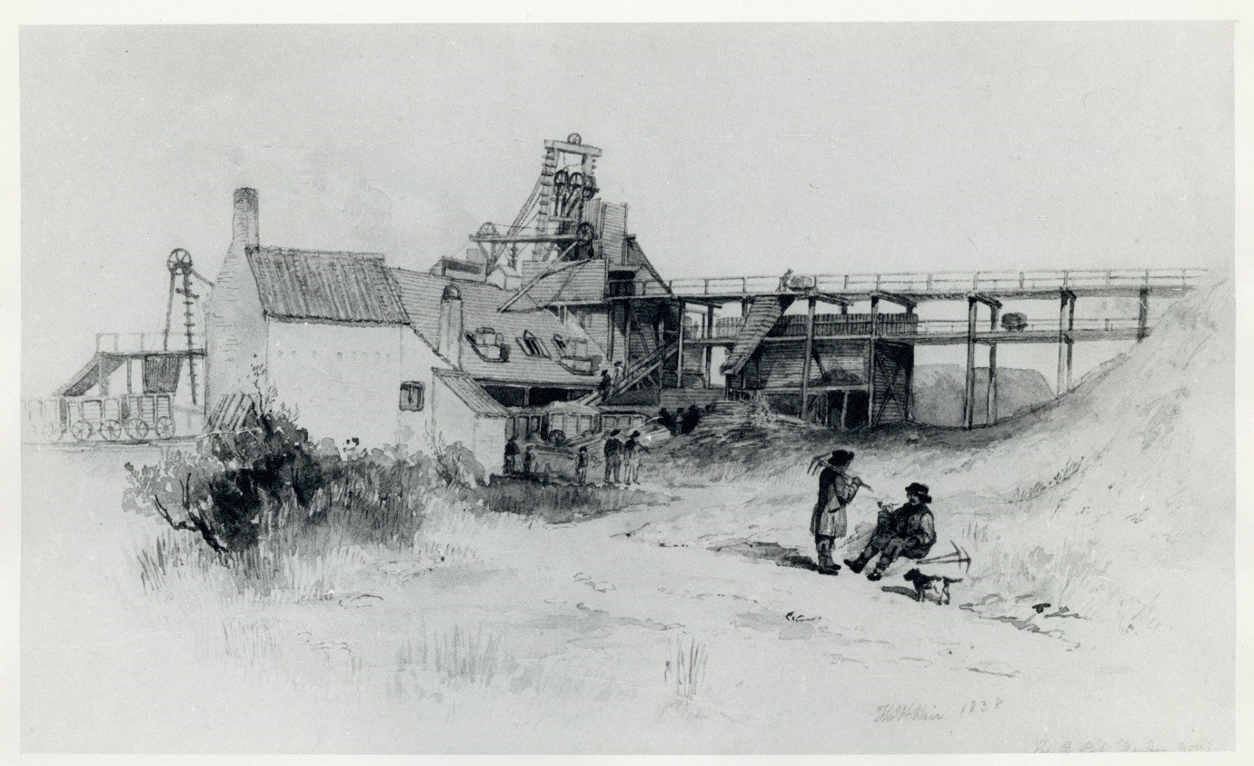 The B Pit, Fawdon Colliery, 1848, by Thomas Hair.