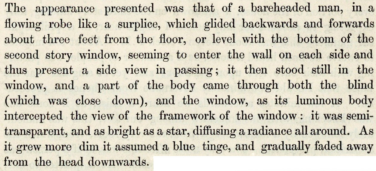 Extract taken from pg. 8 of the 'Authentic account of a visit to the haunted house at Willington near Newcastle-upon-Tyne' (W159.9612252 RIC), published 1842