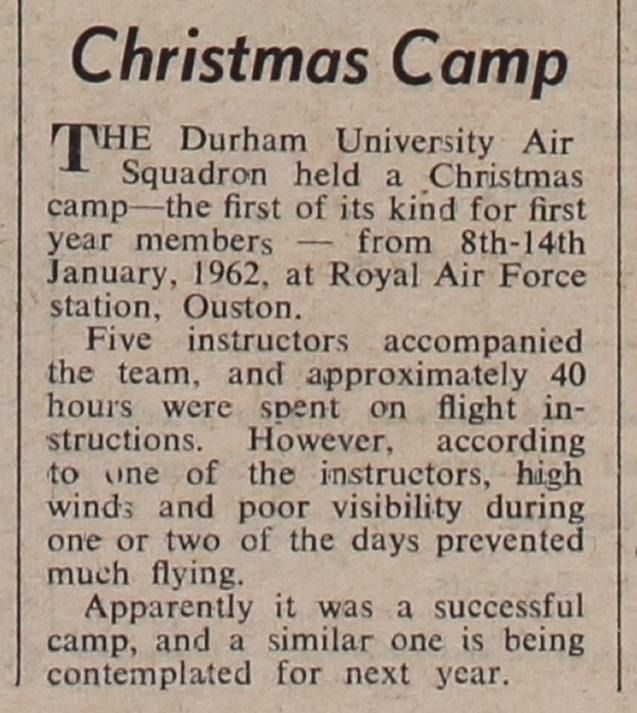 'Christmas Camp'