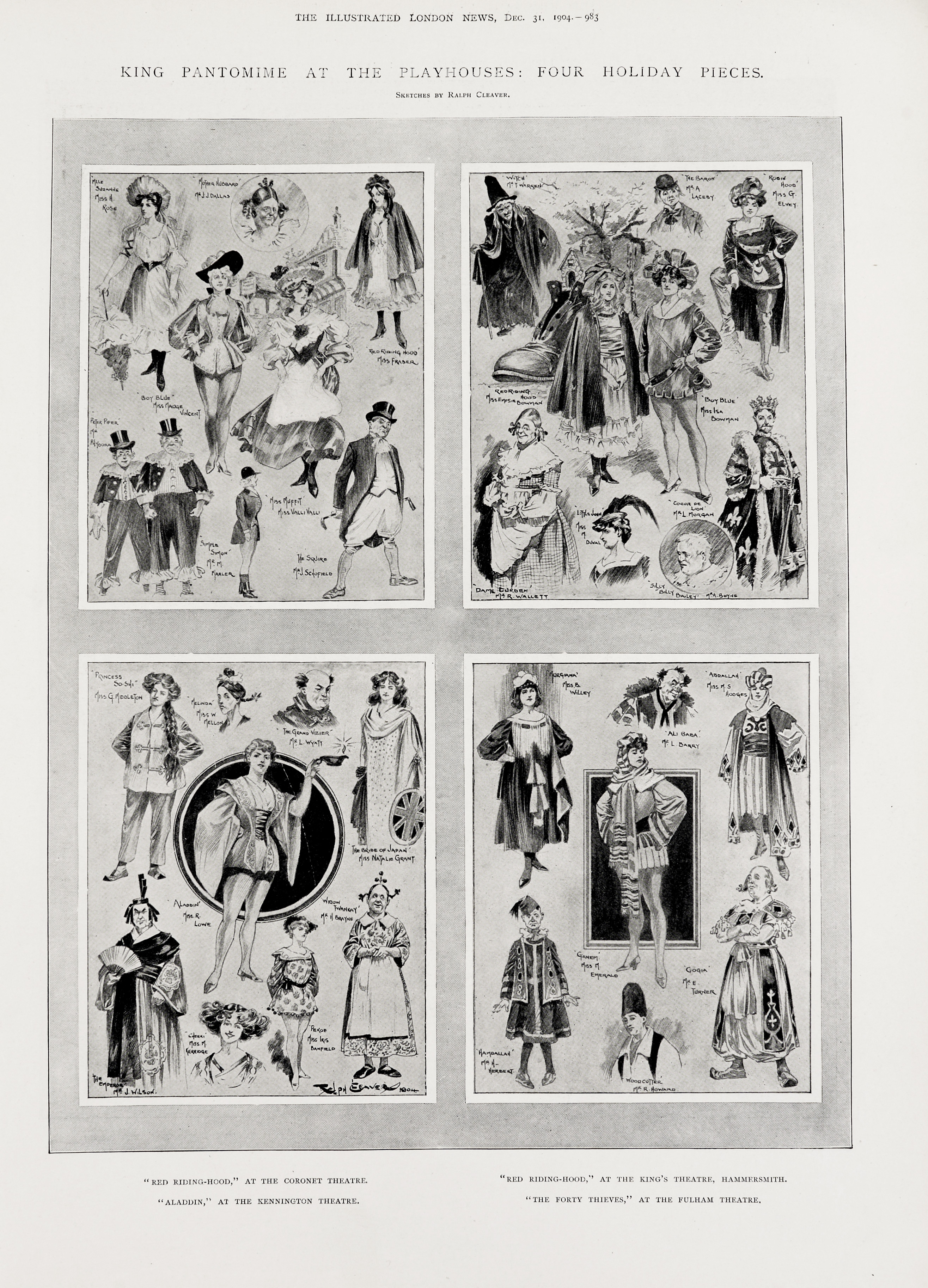 'King Pantomime at the Playhouses: Four Holiday Pieces'