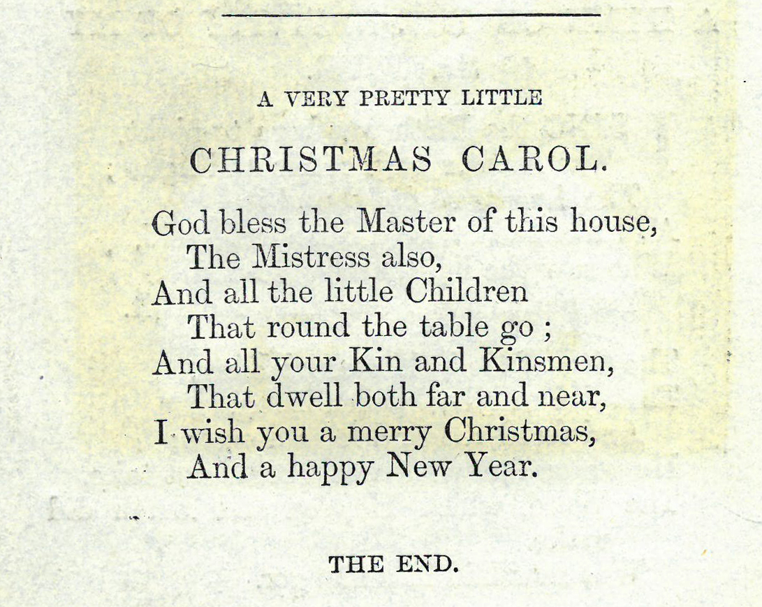 'A Very Pretty Little Christmas Carol' from A Garland of Christmas Carols (Chapbooks 821.89 GAR)