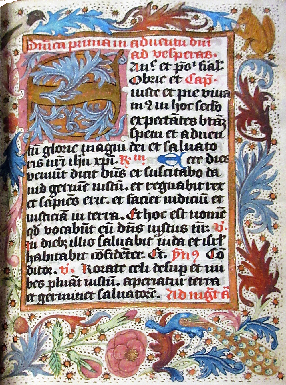 Page from Breviary