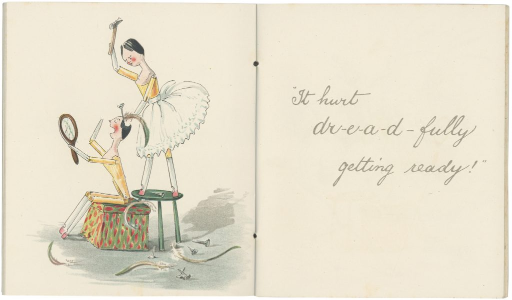 Pages 11-12 from 'Catherine Susan and Me's Coming Out' by Kathleen Ainslie (Rare Books 823.912 AIN)