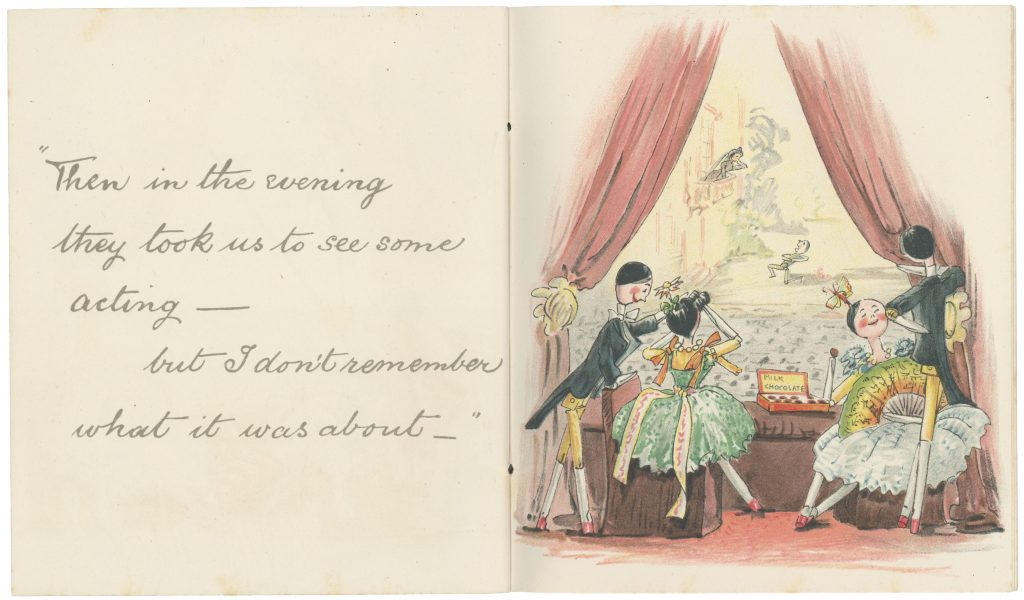 Pages 27-28 from 'Catherine Susan and Me's Coming Out' by Kathleen Ainslie (Rare Books 823.912 AIN)